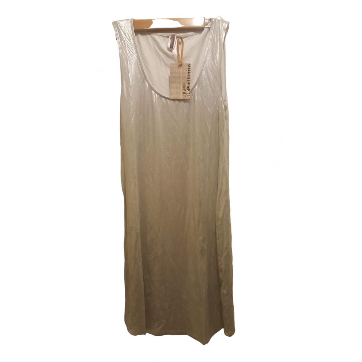 John Galliano \N Silver Cotton - elasthane dress for Women 40 FR