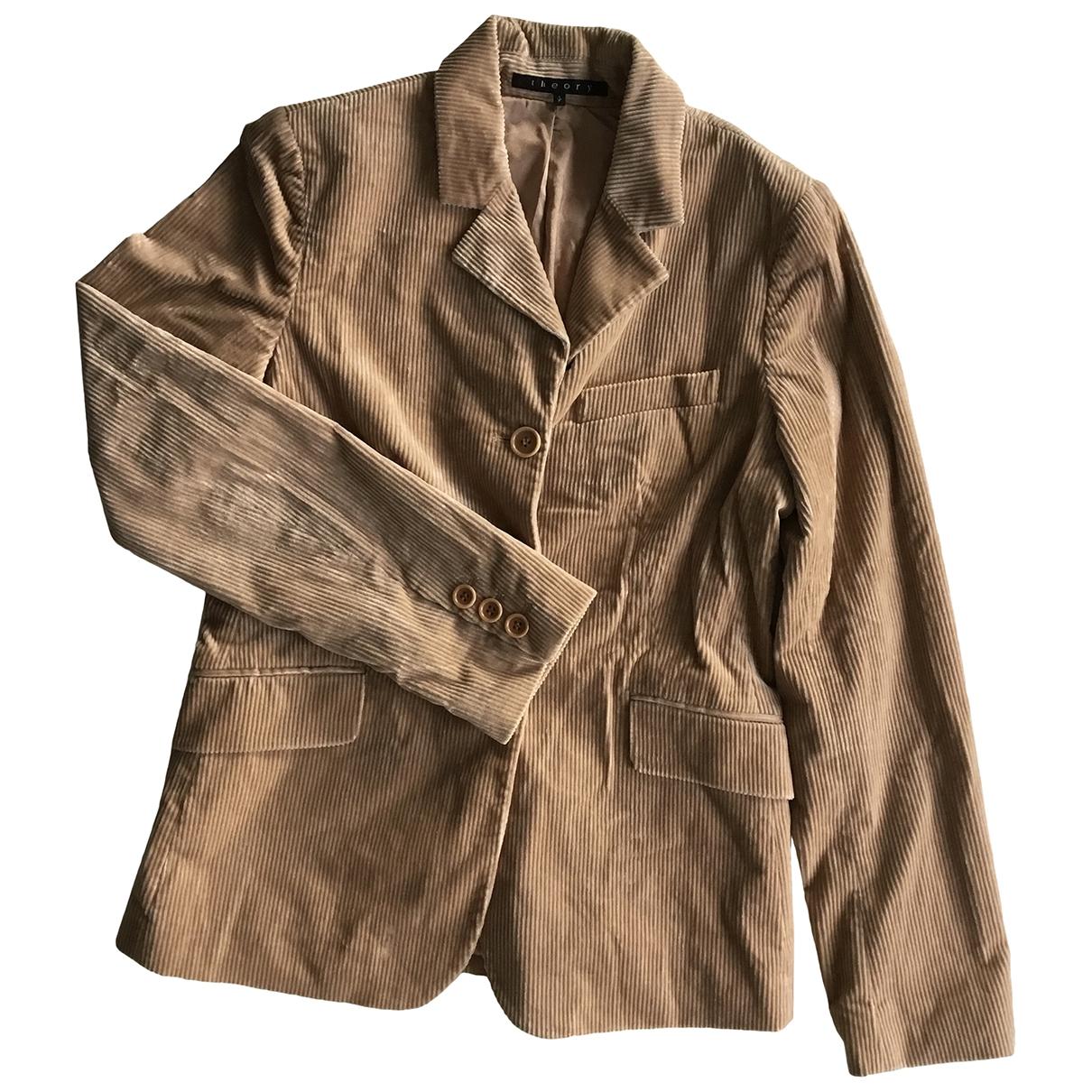 Theory \N Beige Velvet jacket for Women S International