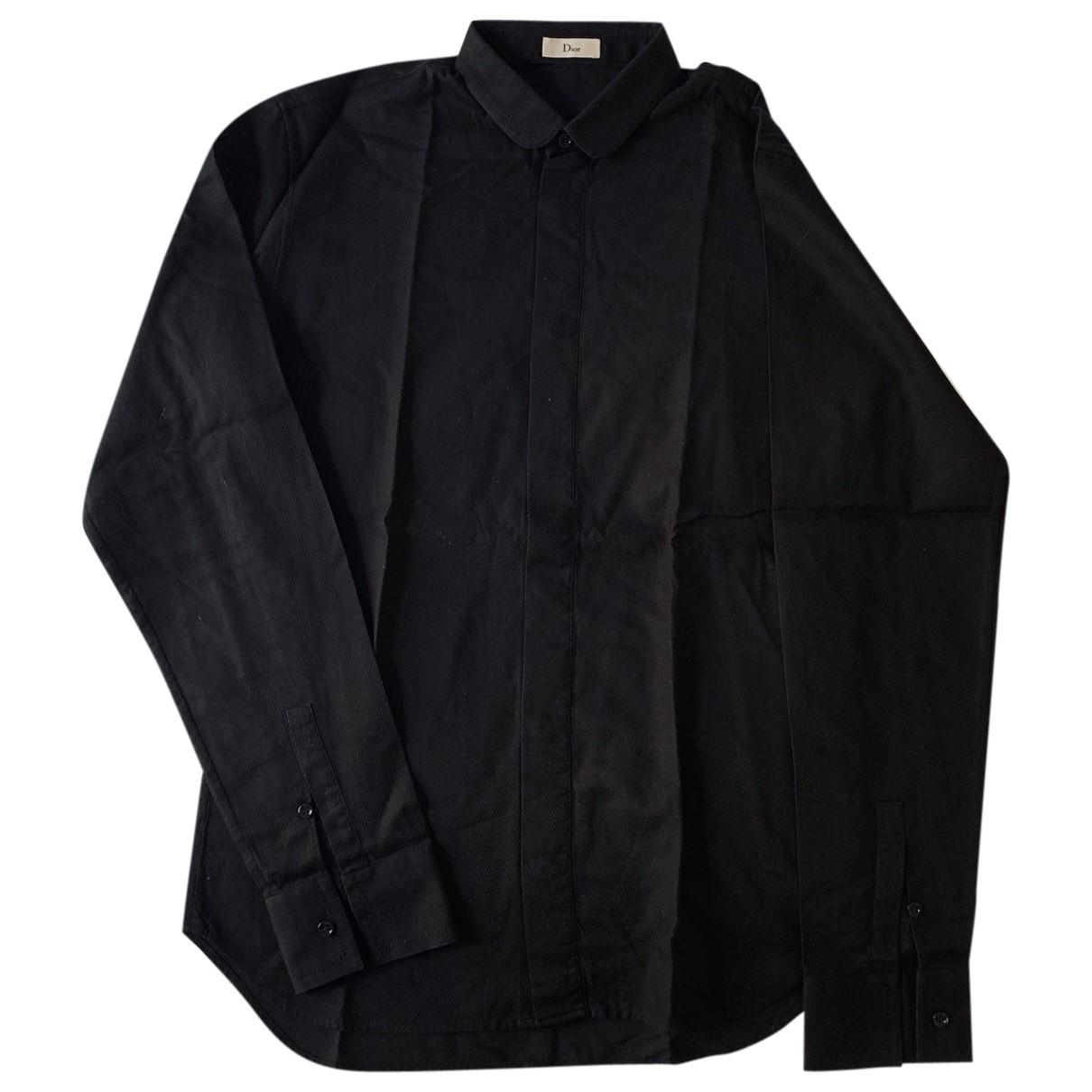 Dior Homme \N Hemden in  Schwarz Baumwolle