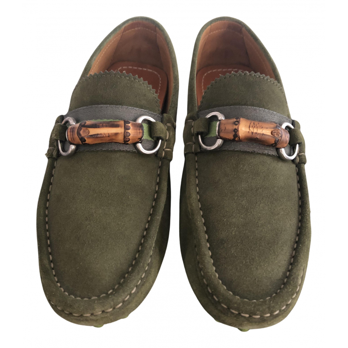 Gucci N Green Suede Flats for Men 5.5 UK