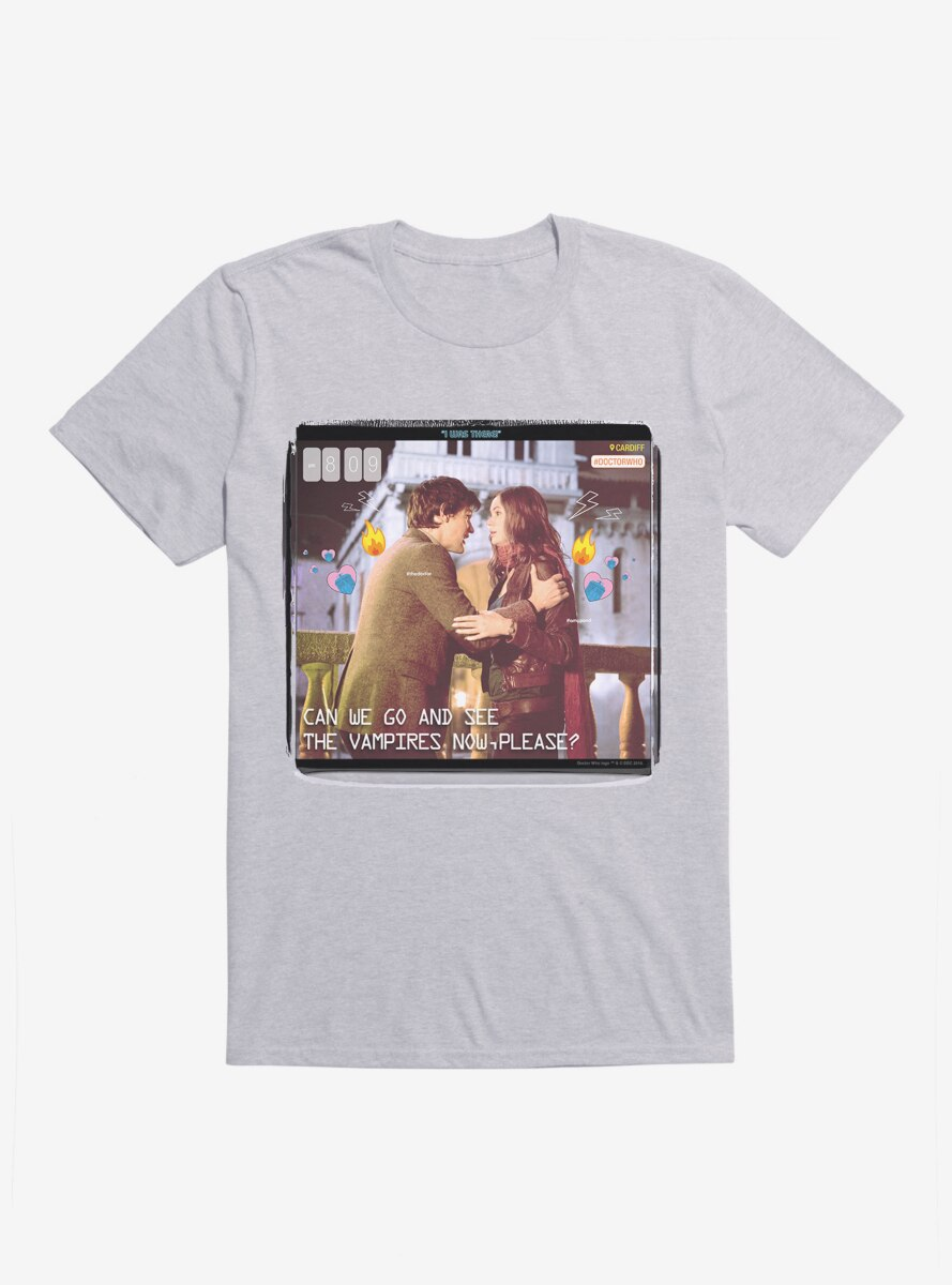 Doctor Who The Eleventh Doctor And Pond Vampires T-Shirt