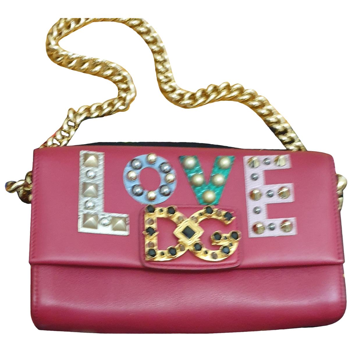 Dolce & Gabbana - Sac a main   pour femme en cuir - bordeaux