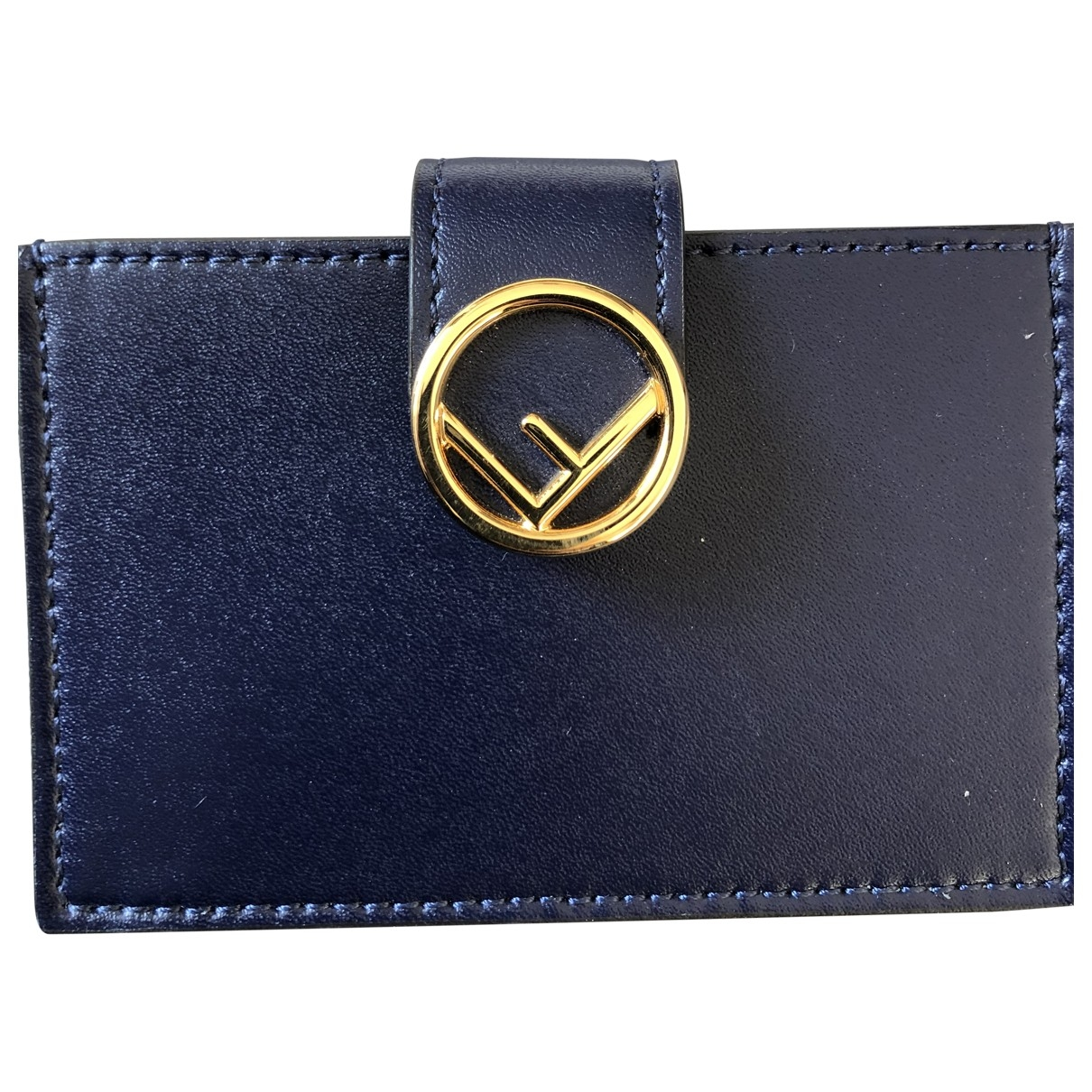 Fendi \N Navy Leather wallet for Women \N