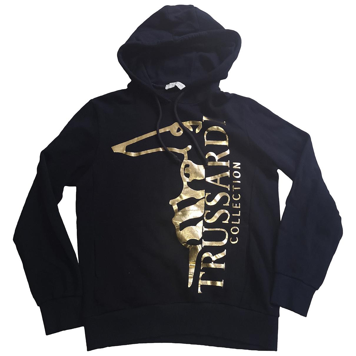 Trussardi \N Pullover.Westen.Sweatshirts  in  Marine Baumwolle