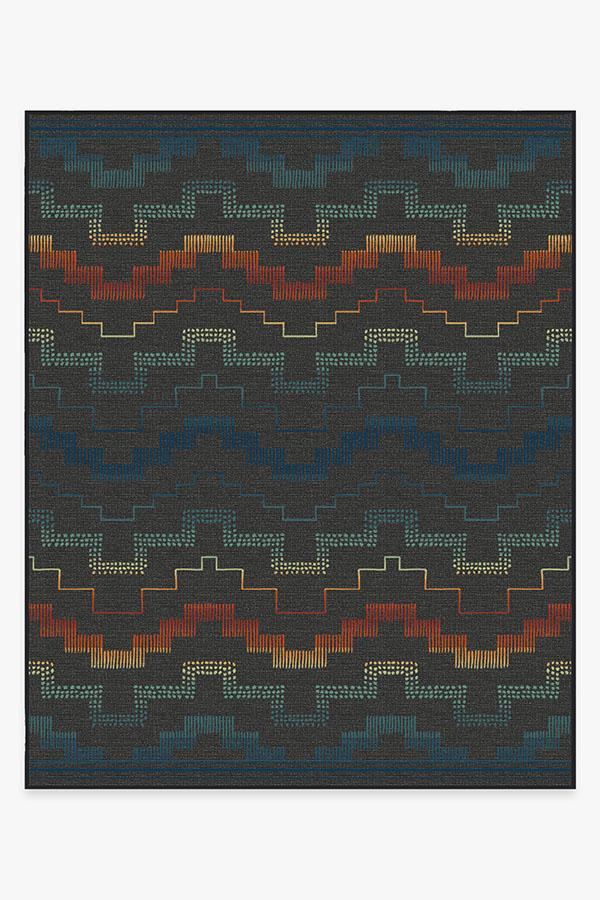 Washable Rug Cover & Pad | Outdoor Meseta Multicolor Rug | Stain-Resistant | Ruggable | 8x10