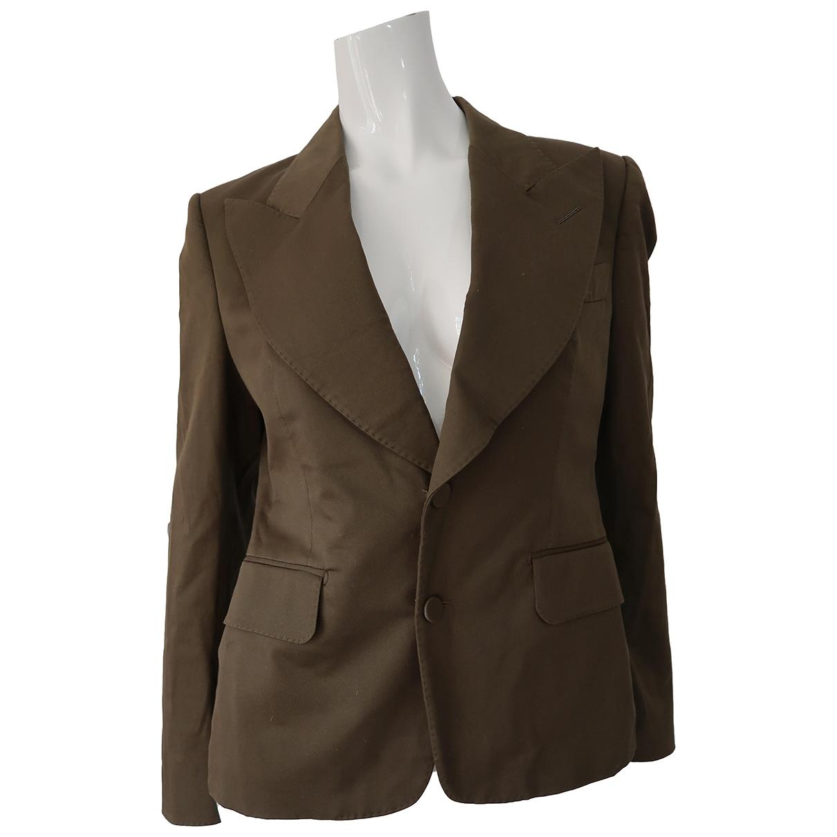 Tom Ford \N Khaki Cotton jacket for Women 44 IT
