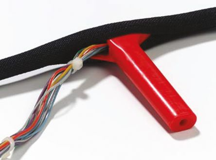Thomas & Betts Braided Polyester Black Cable Sleeve, 13mm Diameter, 50m Length, Bind-It Series
