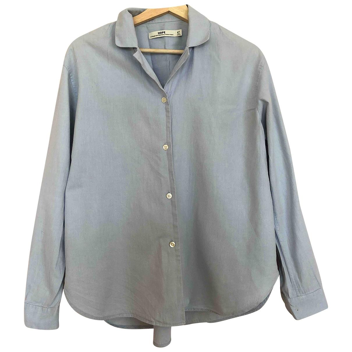 Hope - Top   pour femme en coton - bleu