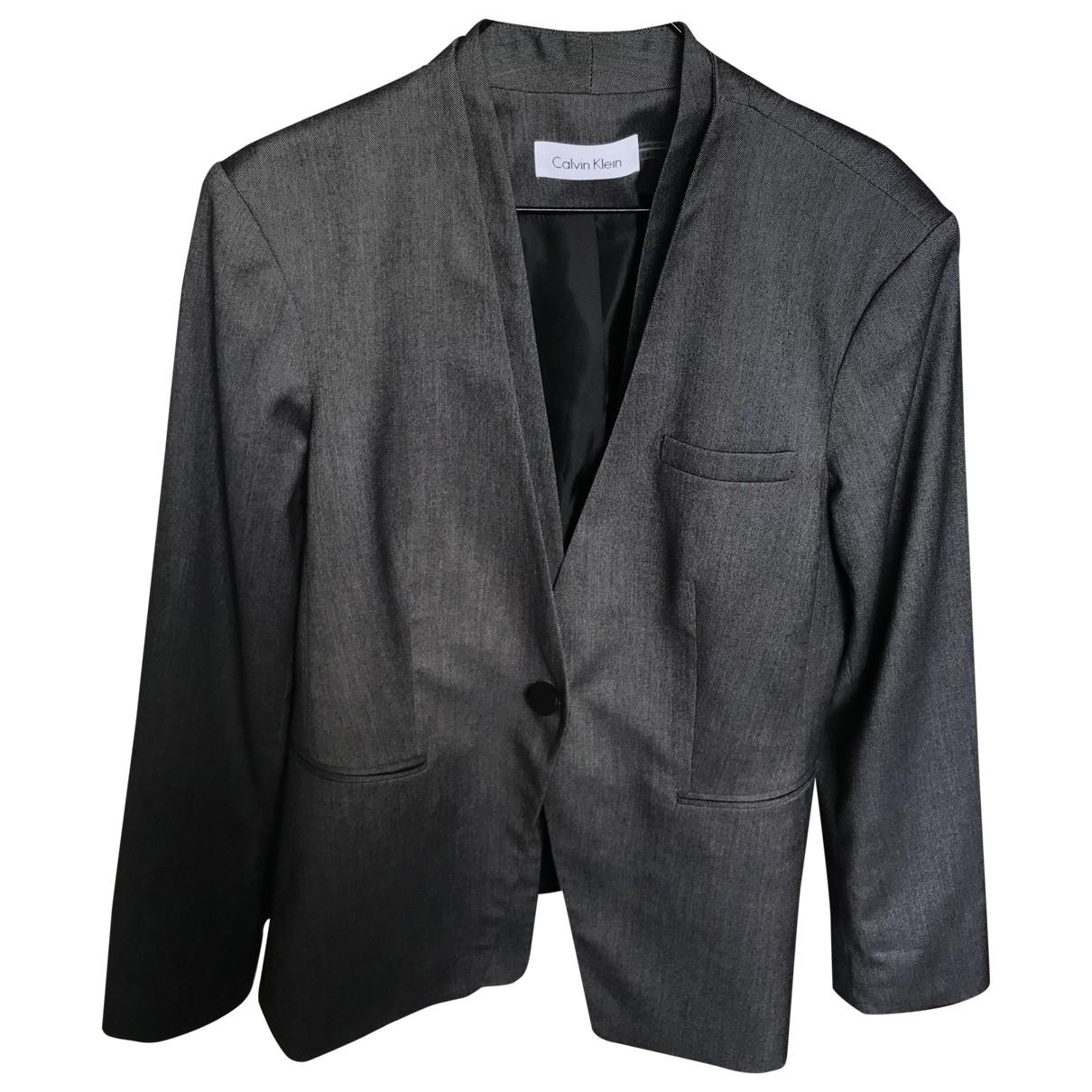 Calvin Klein - Veste   pour femme - gris