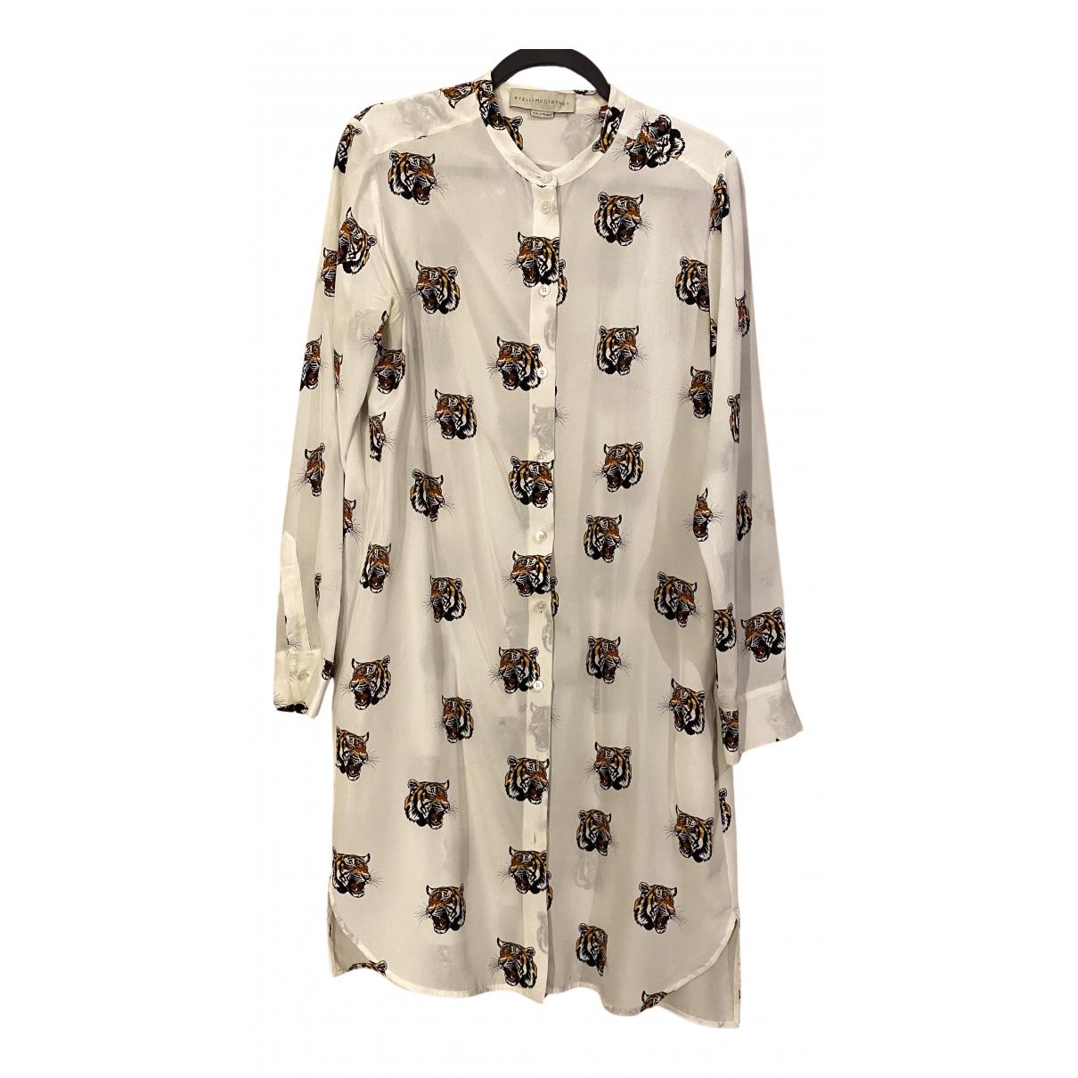 Stella Mccartney - Robe   pour femme en soie - blanc