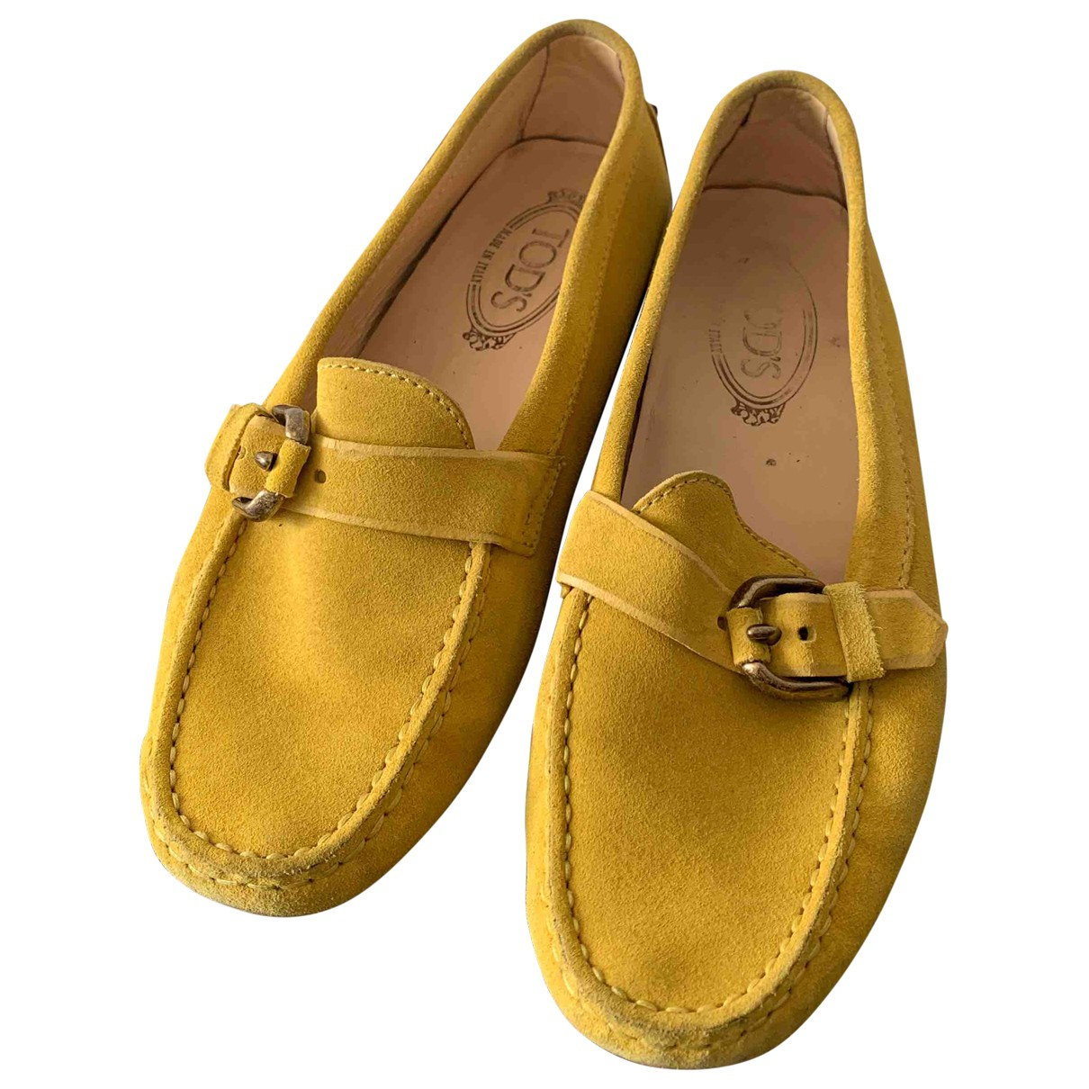Tod's \N Yellow Leather Flats for Women 38.5 IT