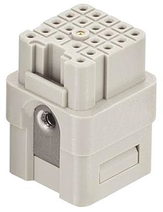 HARTING Han Q Female Insert, 21 Way, 5 Row, Rated At 6.5A, 50 V, For Use With Industrial Connectors, Han Q