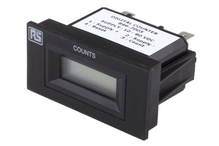 RS PRO , 6 Digit, LCD, Digital Counter, 30Hz, 10 → 80 V dc