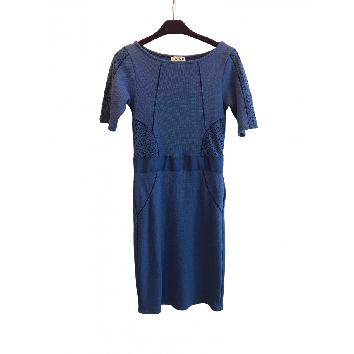 Reiss \N Blue Cotton dress for Women 6 UK