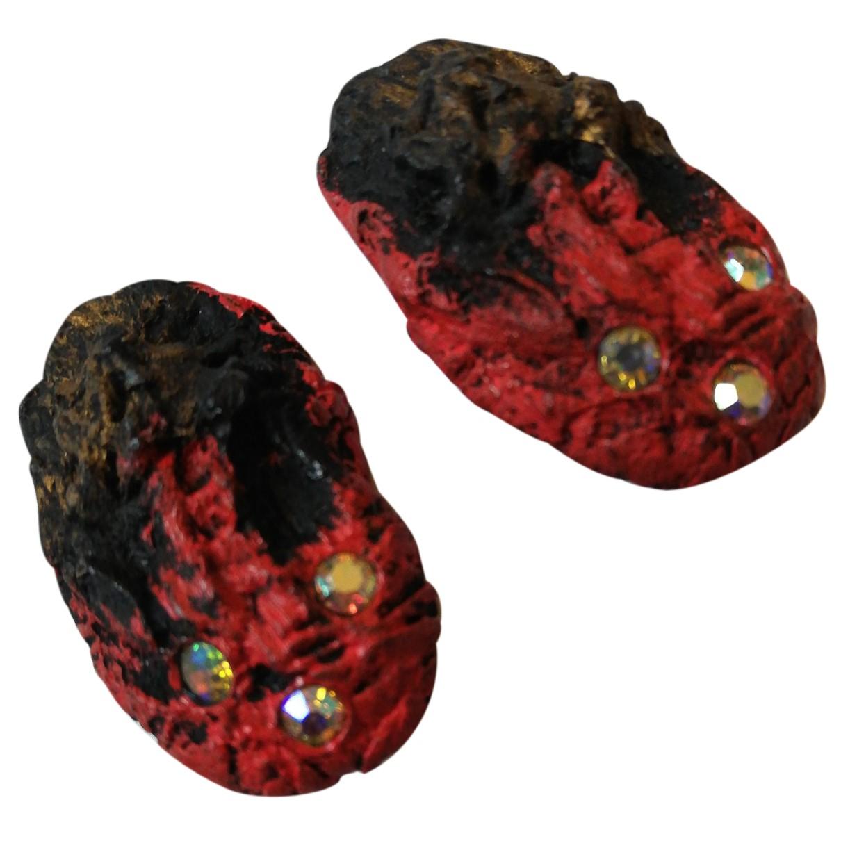 Kansai Yamamoto N Red Earrings for Women N