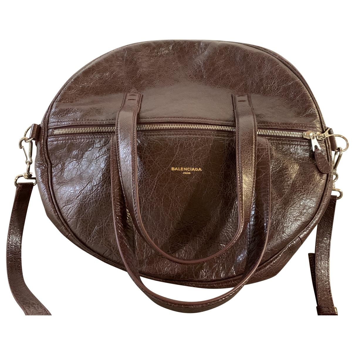 Balenciaga - Sac a main Air Hobo pour femme en cuir - bordeaux