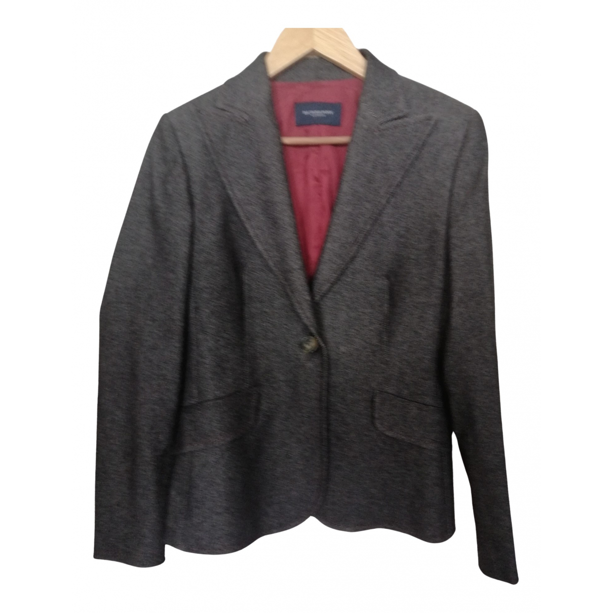 Burberry \N Jacke in  Grau Wolle