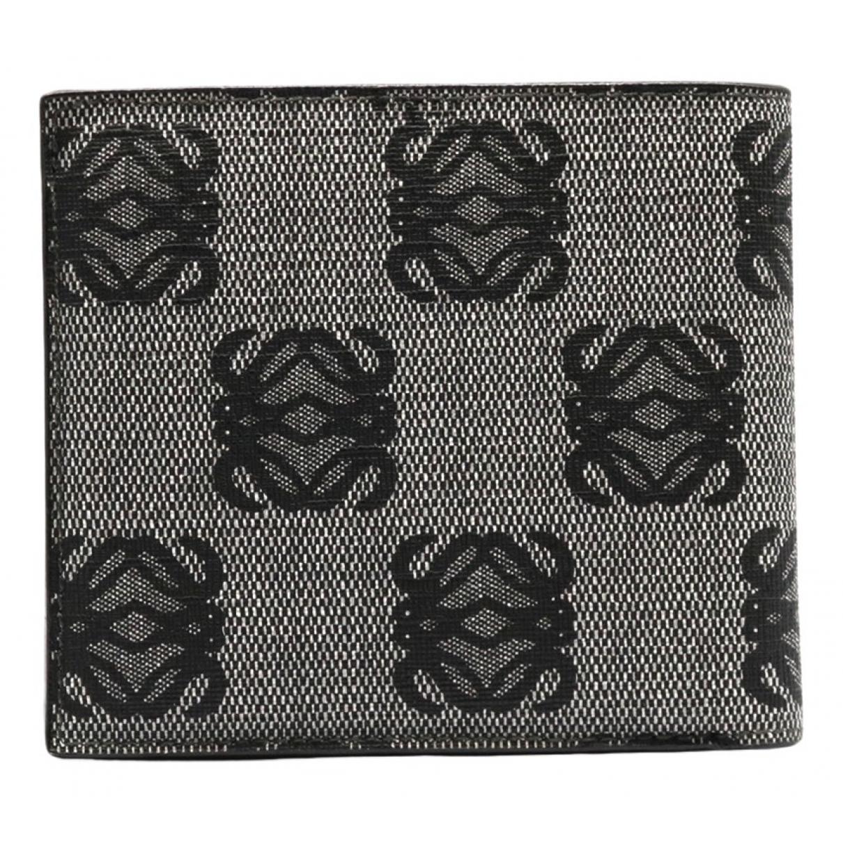 Loewe - Portefeuille   pour femme en toile - noir
