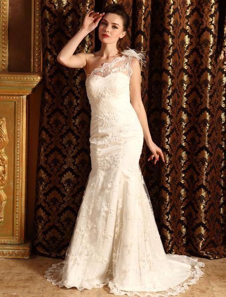 Milanoo Vestido de novia escote en corazon de encaje