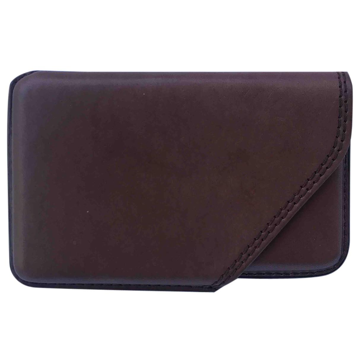 Parmigiani Fleurier N Brown Leather Purses, wallet & cases for Women N