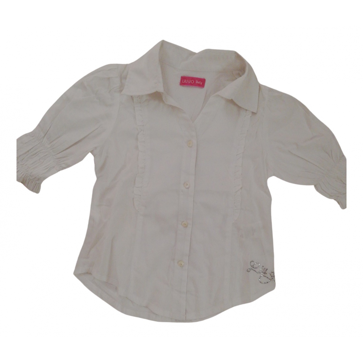 Liu.jo - Top   pour enfant en coton - blanc