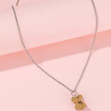 Halskette mit Baeren Dekor