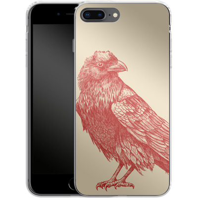 Apple iPhone 7 Plus Silikon Handyhuelle - Red Raven von Terry Fan