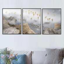 3 piezas pintura de pared con patron abstracto sin marco