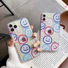 Smile Face Clear iPhone Case