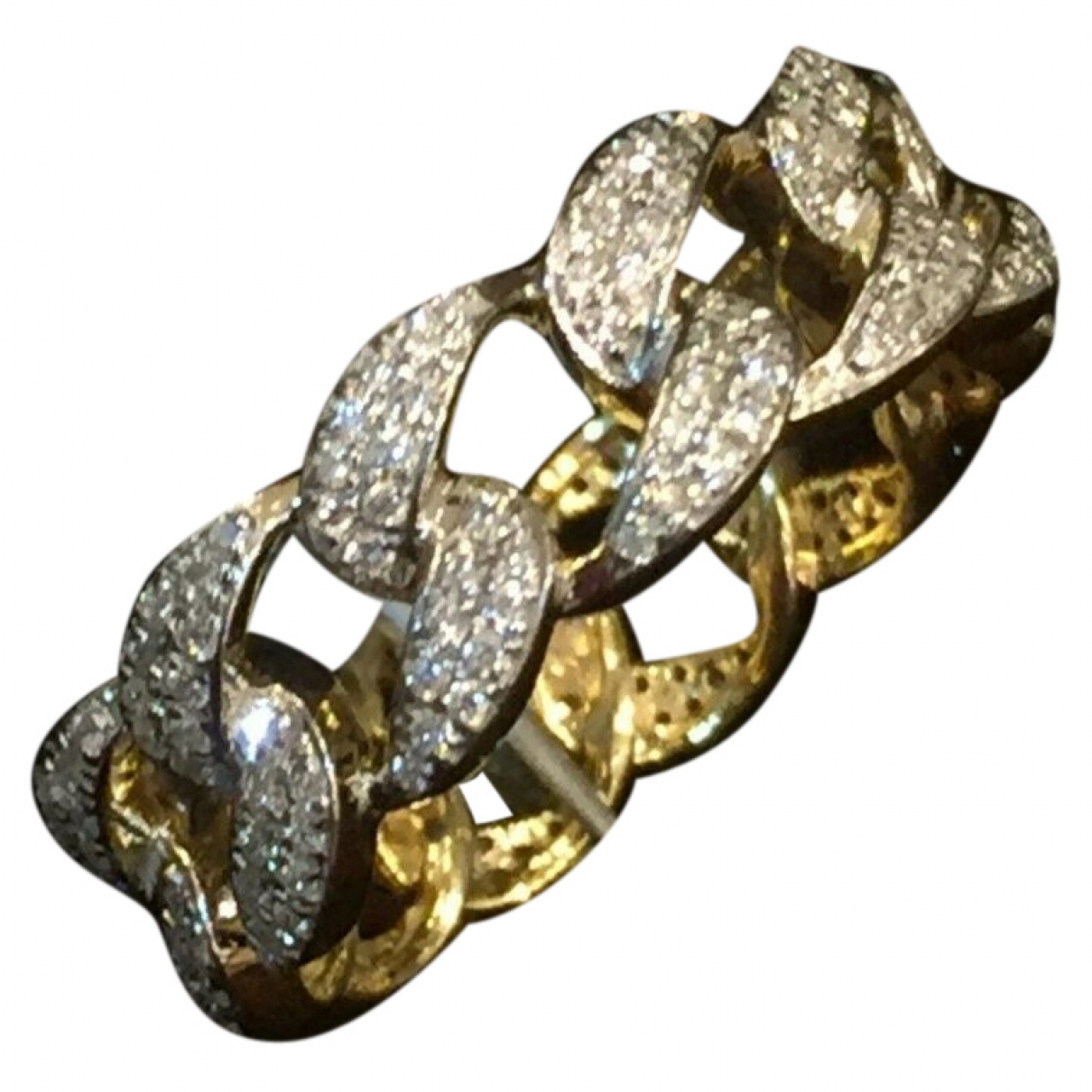 Non Signe / Unsigned Gourmette Ring in  Gold Gelbgold
