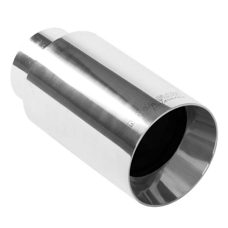 MagnaFlow 35126 Exhaust Products Single Exhaust Tip - 2.25in. Inlet/4in. Outlet