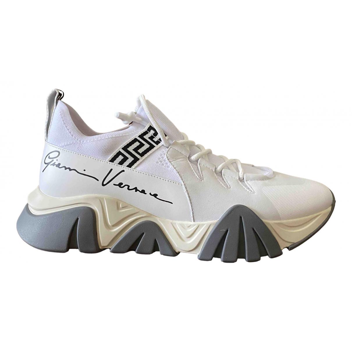 Versace - Baskets   pour homme en cuir - blanc