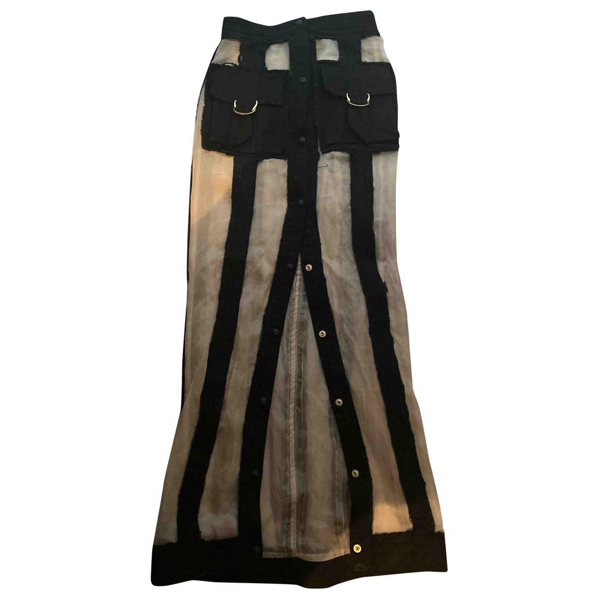 Balmain \N Rocke in  Schwarz Denim - Jeans