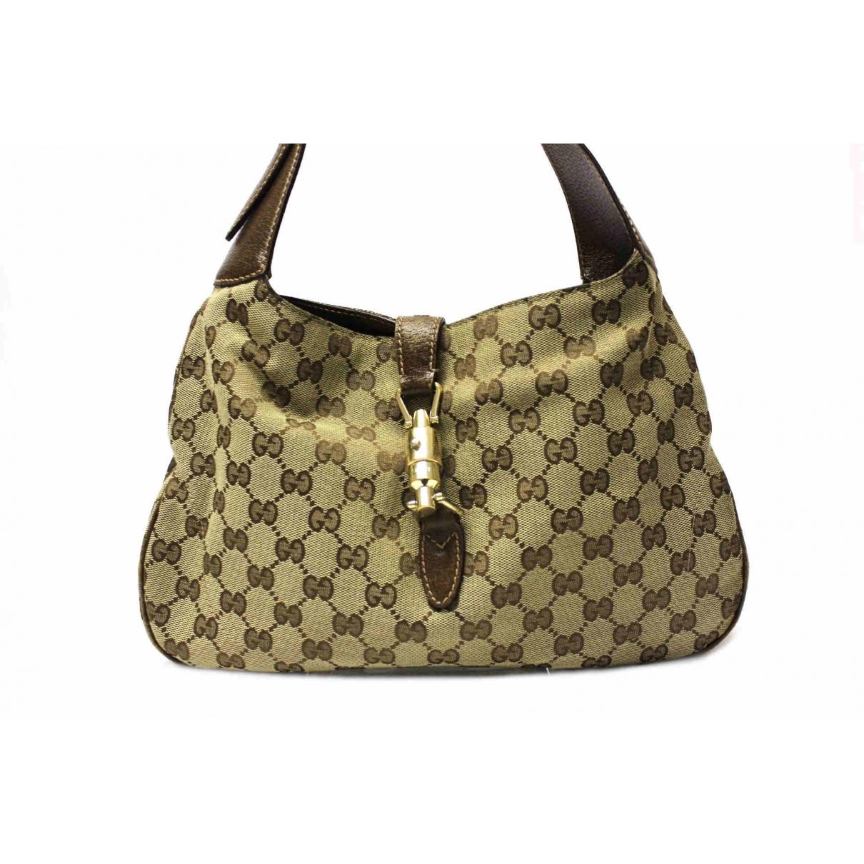 Gucci Jackie Beige Cloth handbag for Women \N