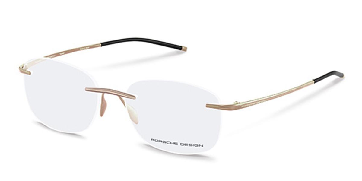 Porsche Design P8362 B Men's Glasses Gold Size 55 - Free Lenses - HSA/FSA Insurance - Blue Light Block Available