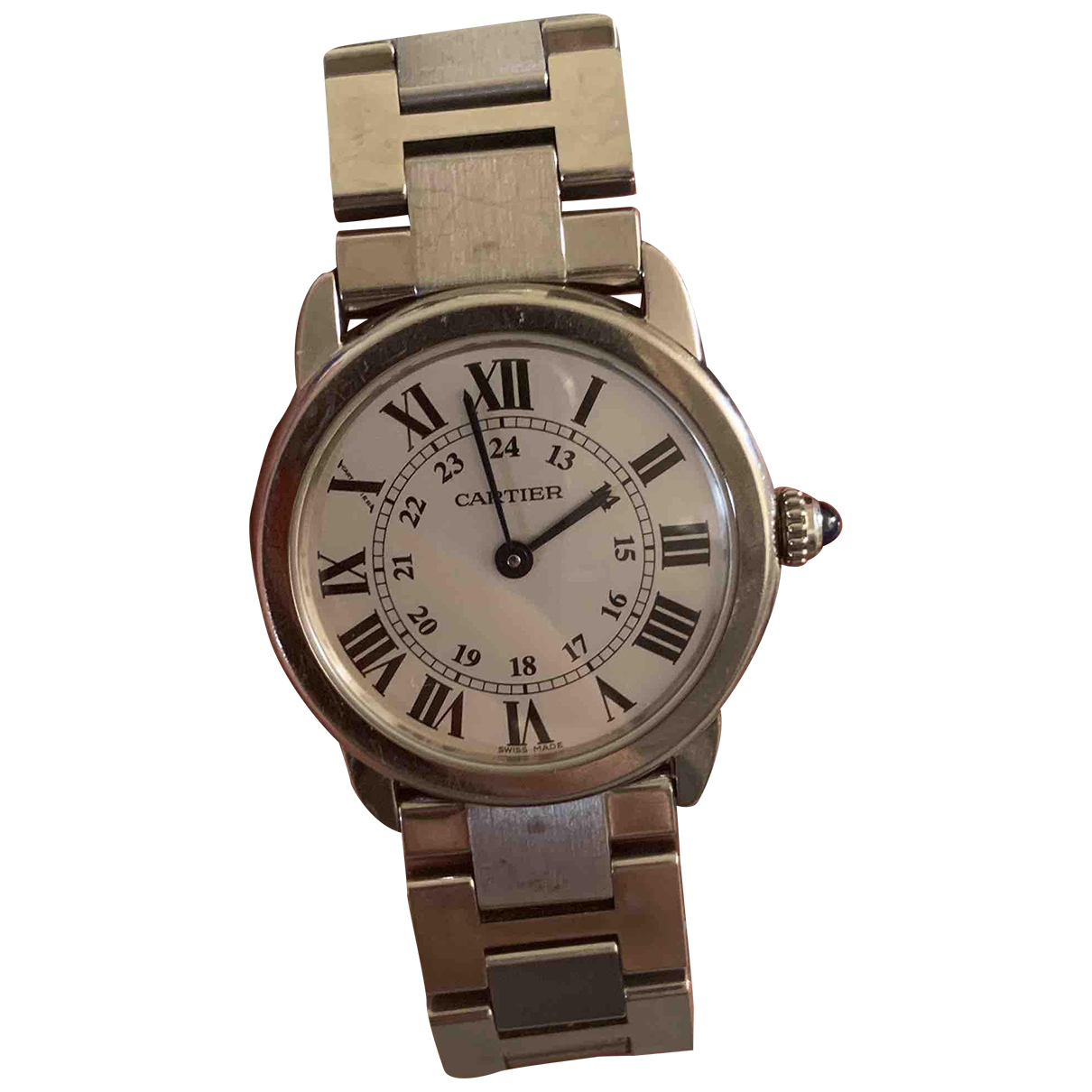 Cartier Ronde Solo Silver Steel watch for Women N