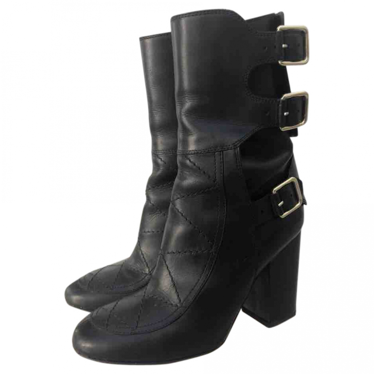 Laurence Dacade \N Black Leather Ankle boots for Women 35.5 EU