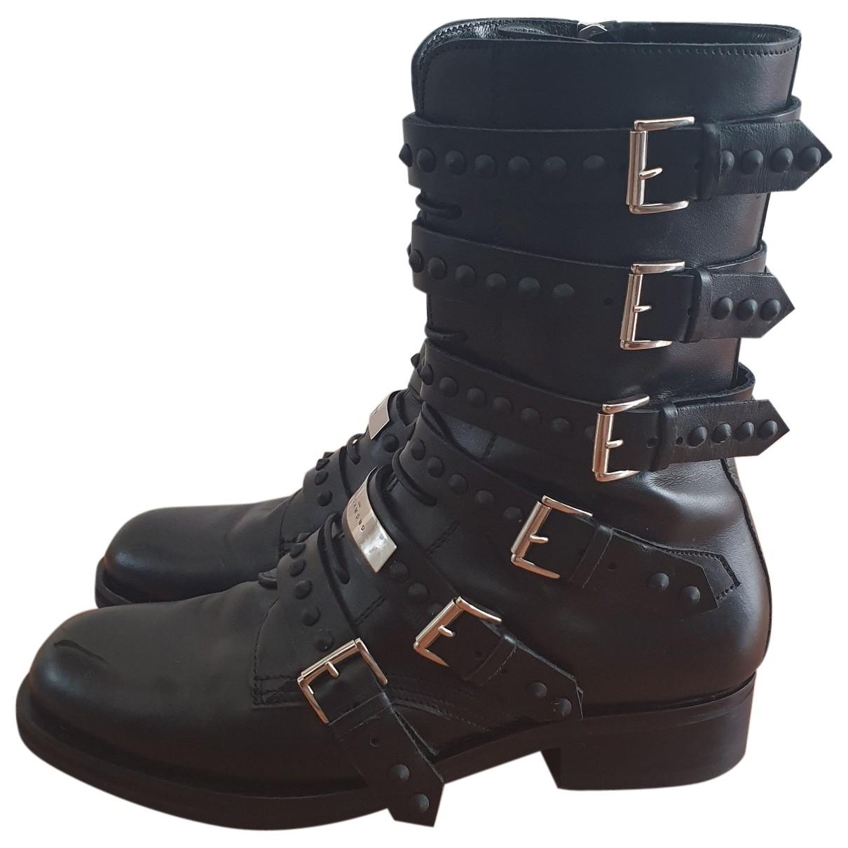 John Richmond \N Black Leather Boots for Women 39 EU