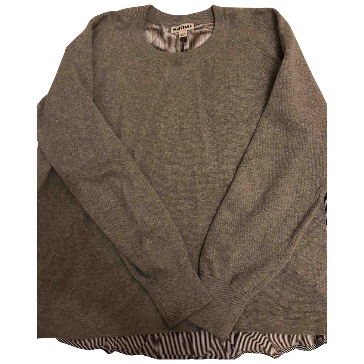 Whistles - Pull   pour femme en coton - gris
