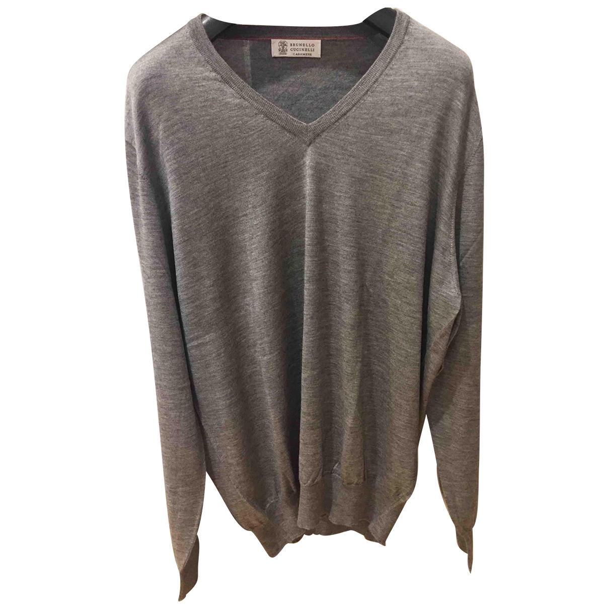 Brunello Cucinelli \N Pullover.Westen.Sweatshirts  in  Grau Kaschmir
