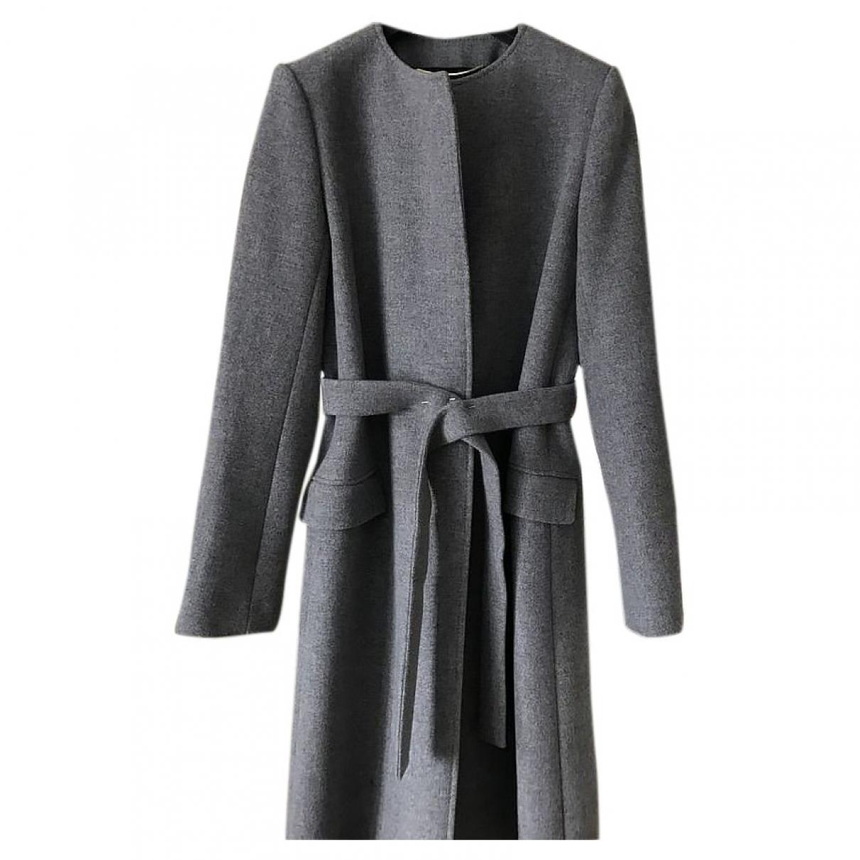 Saint Laurent \N Maentel in  Grau Wolle