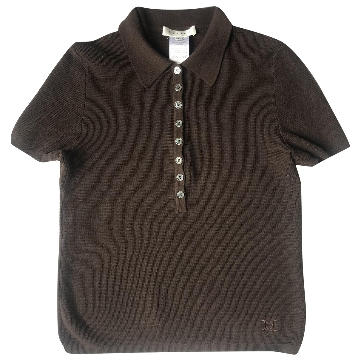 Celine - Top   pour femme en coton - marron