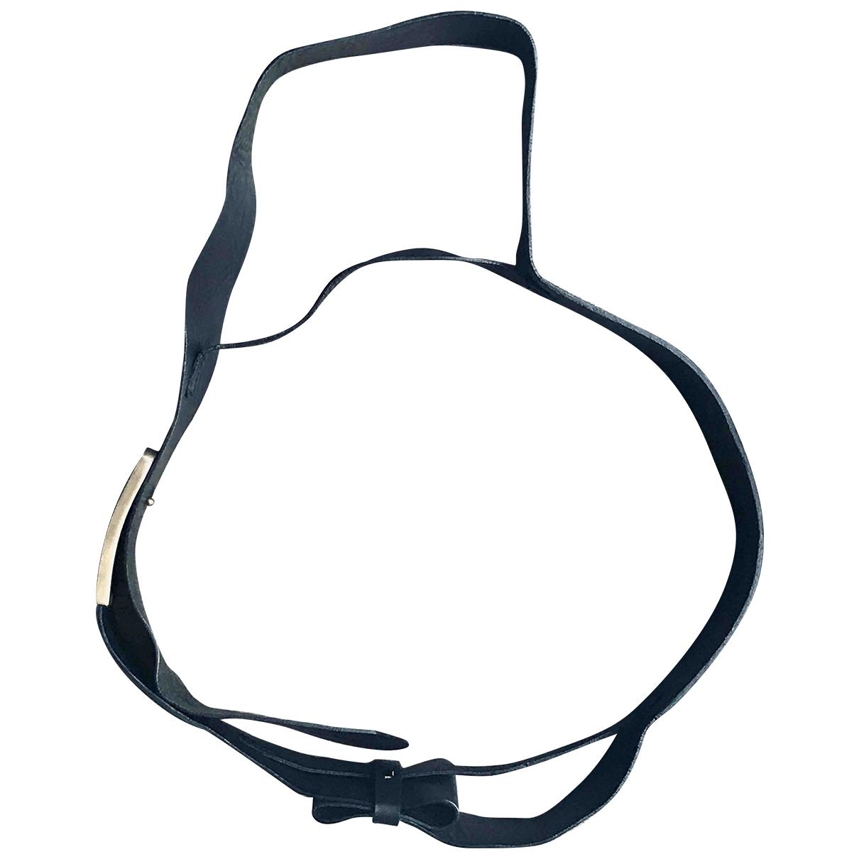 Maison Martin Margiela \N Black Leather belt for Women M International