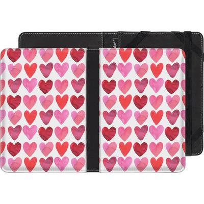 PocketBook Touch 622 eBook Reader Huelle - Heart Watercolour von Amy Sia