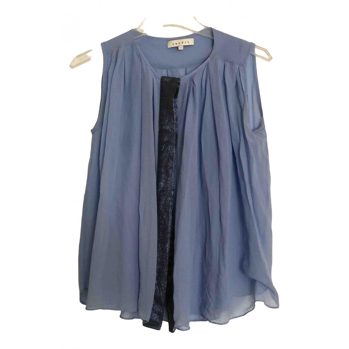 Sandro \N Blue Silk  top for Women 36 FR