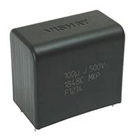 Vishay 100μF Polypropylene Capacitor PP 500V dc ±5% Tolerance Through Hole MKP1848C DC-Link Series