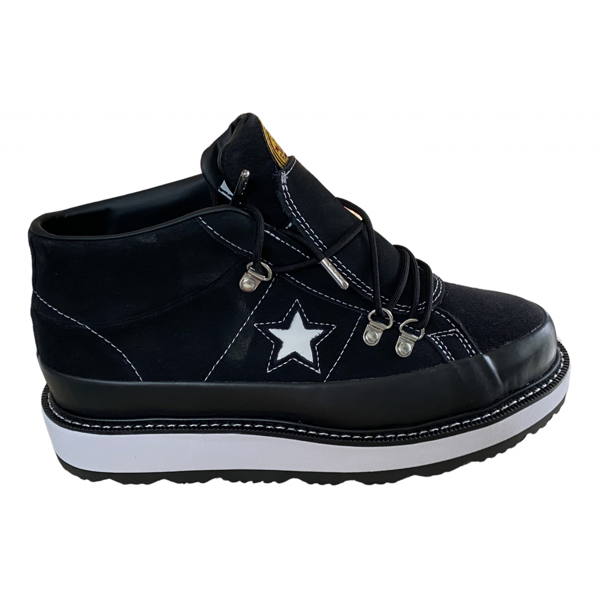 Converse \N Black Leather Ankle boots for Women 40 EU