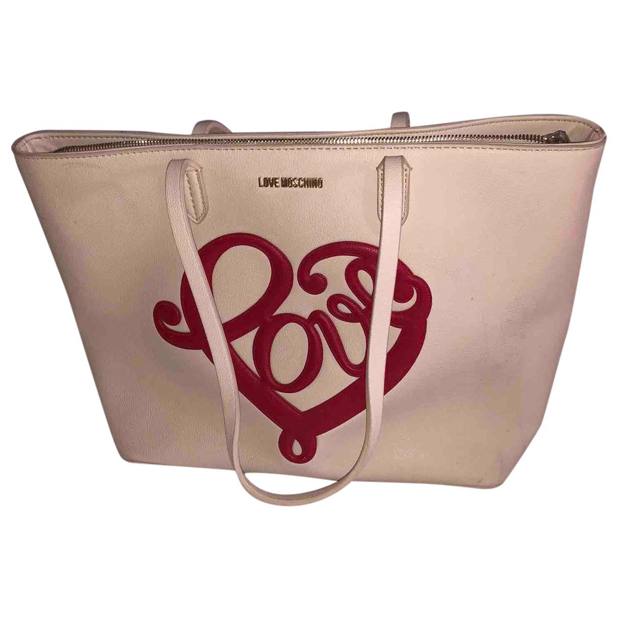 Moschino Love \N Beige Leather handbag for Women \N