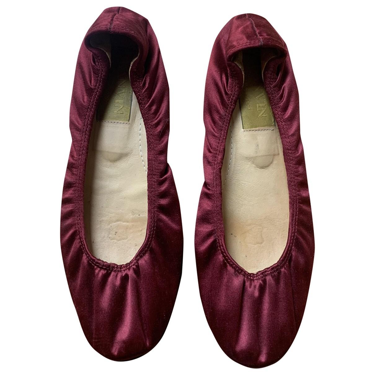 Lanvin \N Ballerinas in  Rot Leinen