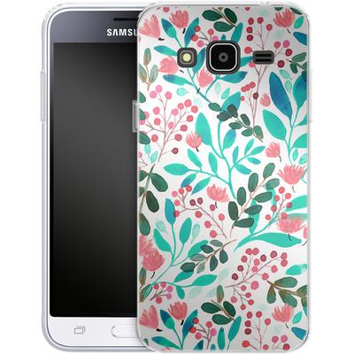 Samsung Galaxy J3 (2016) Silikon Handyhuelle - Bright Foliage von Iisa Monttinen
